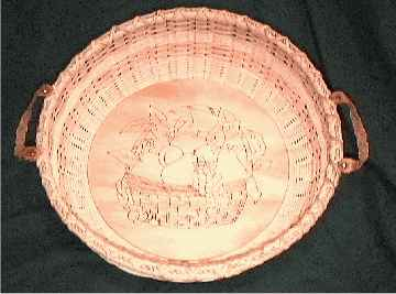 Round tray with burned bottom